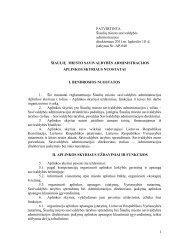 aplinkos skyriaus nuostatai - Šiaulių miesto savivaldybė