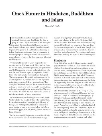 an analysis of hinduism buddhism and islam