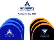 Audi Junior Cup 2011 - Ski Sport Finland ry