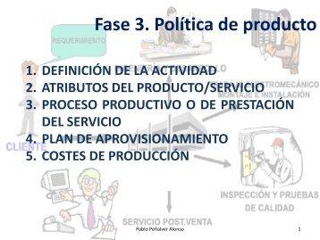 Fase 3. Política de producto