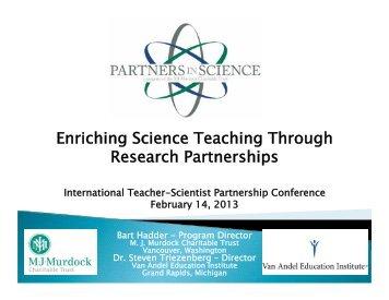 Partners in Science Program Presentation for International Teacher ...