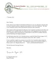 1 October 2012 Dear Parents, In line with our new Charter for the ...