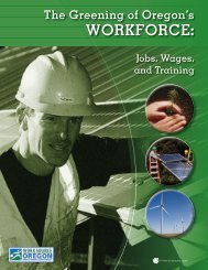The Greening of Oregon's Workforce - SC Works Online Services