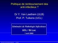 Politique de remboursement des antiinfectieux ? - UCL
