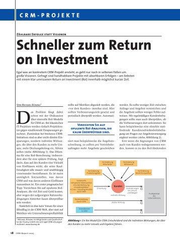 return on investment erfolgsmessung in selektivvertr gen. Black Bedroom Furniture Sets. Home Design Ideas