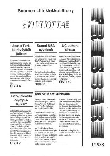 Frisbari 1/1988 - Ultimate.fi