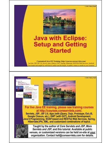 Java with Eclipse - Custom Training Courses - Coreservlets.com