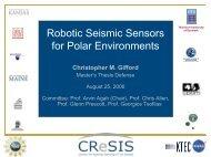 Robotic Seismic Sensors for Polar Environments - Center for ...