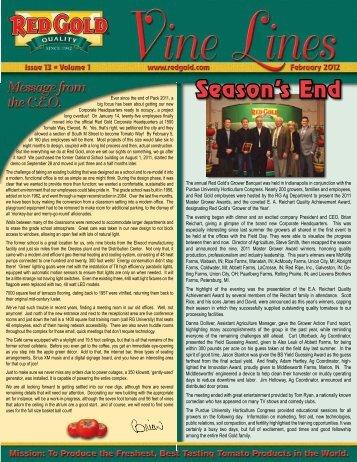February 2012 Vine Lines Newsletter - Red Gold