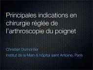 Christian Dumontier Institut de la Main & hôpital saint ... - ClubOrtho.fr
