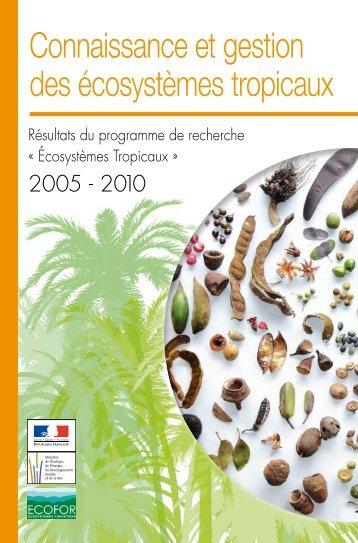 Connaissance et gestion des écosystèmes tropicaux - GIP-Ecofor