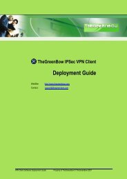 Deployment Guide - TheGreenBow