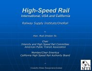 American Public Transportation Association High Speed and ...
