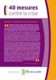 40 mesures contre la crise (PDF - 1 Mo - Conseil Régional des Pays ...