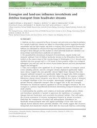 Ecoregion and land-use influence invertebrate and detritus