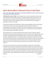Esker DeliveryWare 5.0 Boosts Power to Quit Paper