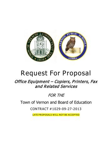 Request For Proposal - Town of Vernon