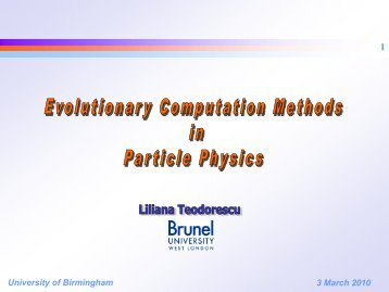 3 March 2010 University of Birmingham - Elementary Particle ...
