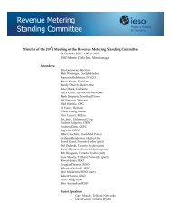 Revenue Metering Standing Committee - Independent Electricity ...