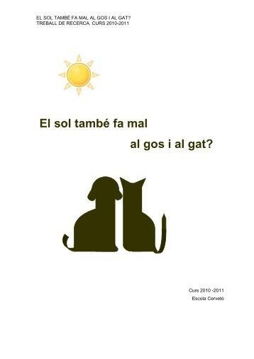 El sol també fa mal al gos i al gat? - Premis Universitat de Vic als ...