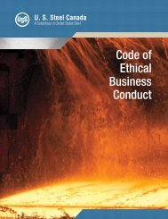 U. S. Steel Canada Code of Ethical Business Conduct - EthicsPoint