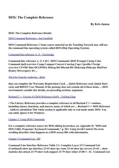 Commands ebook free download cmd