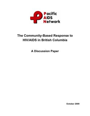 The Community-Based Response to HIV/AIDS in British Columbia