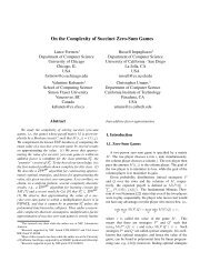 On the Complexity of Succinct Zero-Sum Games - Computing + ...