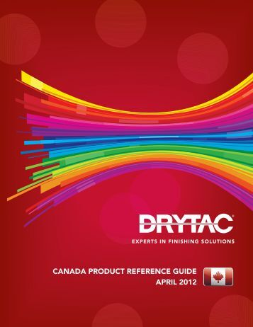 CANADA PRODUCT REFERENCE GUIDE APRIL 2012 - Drytac
