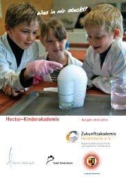 Programmheft der Hector-Kinderakademie 2012 ... - Stadt Heidenheim