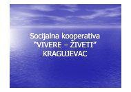 """Socijalna kooperativa """"VIVERE – ŽIVETI"""" KRAGUJEVAC"""