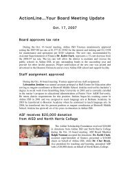 ActionLine…Your Board Meeting Update - Aldine Independent ...