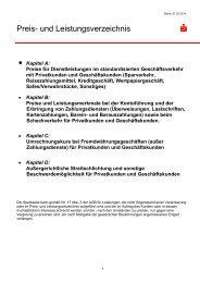 Preis- und Leistungsverzeichnis - und Stadtsparkasse Erding - Dorfen