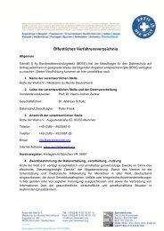 Öffentliches Verfahrensverzeichnis - Ärzte der Welt e.V.