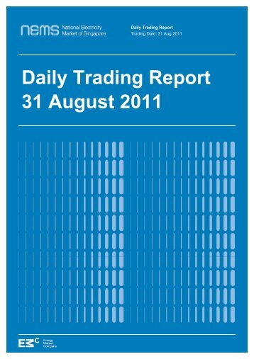 Daily Trading Report 31 August 2011 - EMC