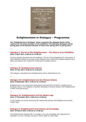 Enlightenment in Dialogue – Programme - The Art of Enlightenment