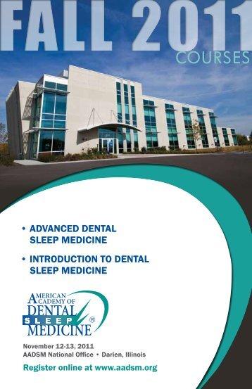 COURSES - The American Academy of Dental Sleep Medicine