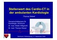 Stellenwert des Cardio-CT in der ambulanten ... - Ww-kardio-do.de
