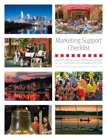 Marketing Support Checklist