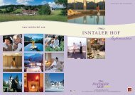 Beauty and Wellness packages - without overnights - Hotel Inntalerhof