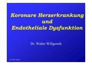 Koronare Herzerkrankung und Endotheliale ... - Ww-kardio-do.de