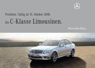 Die C - Klasse Limousinen. - Preislisten