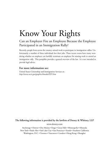 Know Your Rights - American Immigration Lawyers Association