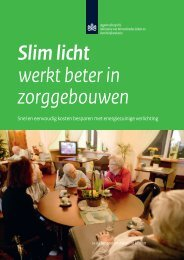 Slim licht werkt beter in zorggebouwen.pdf - Agentschap NL