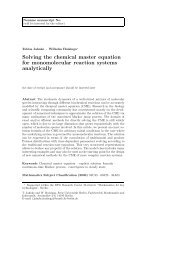 Solving the chemical master equation for monomolecular reaction ...