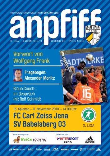 FC Carl Zeiss Jena SV Babelsberg 03