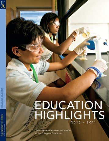 EDUCATION HIGHLIGHTS - The University of Akron