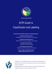 ECPI Guide to Classification and Labelling - BBP Facts