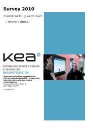 Survey 2010 Constructing architect International - KEA