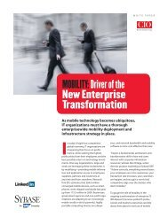Mobility: Driver of the New Enterprise Transformation - Sybase